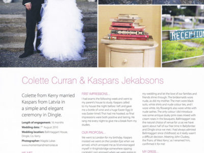 Exclusive Weddings Feature in BMagazine